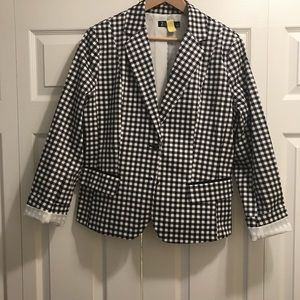 NY&Co black and white blazer